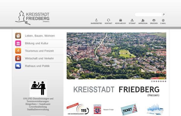 Vorschau von www.friedberg-hessen.de, Stadt Friedberg