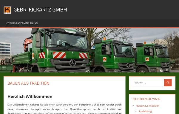 Vorschau von www.kickartz.de, Gebr. Kickartz GmbH