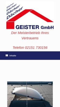 Vorschau der mobilen Webseite www.geister-bedachungen.de, Geister Gmbh