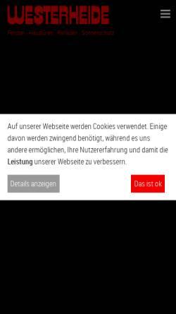 Vorschau der mobilen Webseite www.westerheide.com, Westerheide GmbH