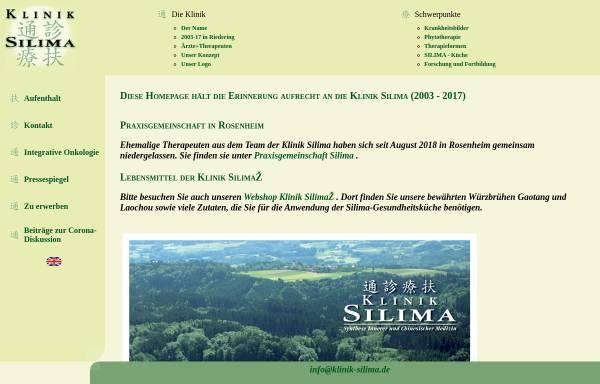 Vorschau von www.klinik-silima.de, Klinik Silima Riedering