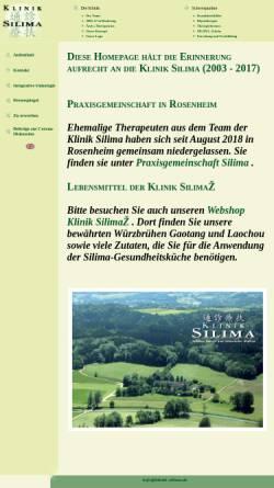 Vorschau der mobilen Webseite www.klinik-silima.de, Klinik Silima Riedering