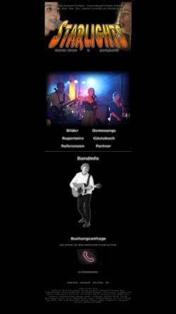 Vorschau der mobilen Webseite www.starlights.de, Starlights