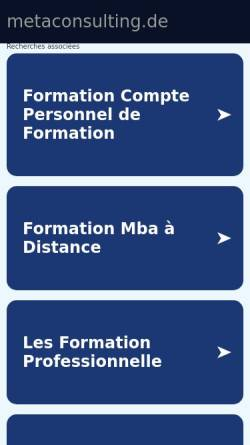 Vorschau der mobilen Webseite www.metaconsulting.de, Meta Consulting & Coaching GbR