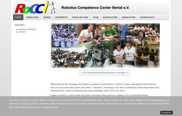Vorschau von www.rocci.net, RoCCI - Robotics Competence Center Illertal e. V.