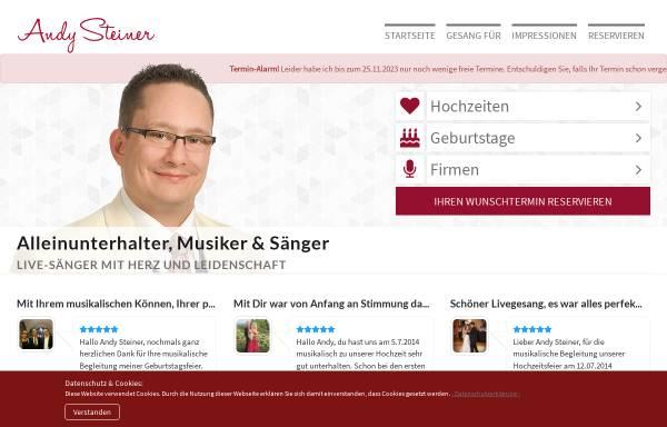 Vorschau von andy-steiner.de, Steiner, Andy - Alleinunterhalter und Musikduo