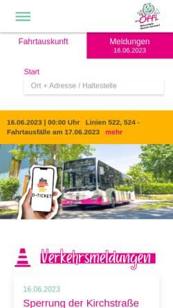 Vorschau der mobilen Webseite www.oeffis.de, Nahverkehr Hameln-Pyrmont