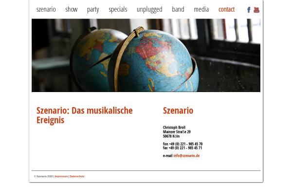 Vorschau von www.szenario.de, Szenario