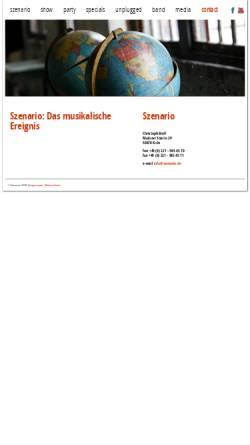 Vorschau der mobilen Webseite www.szenario.de, Szenario
