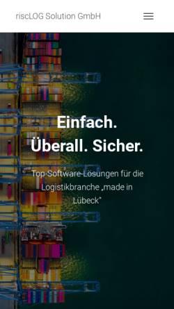 Vorschau der mobilen Webseite www.risclog.de, RiscLOG Solution GmbH