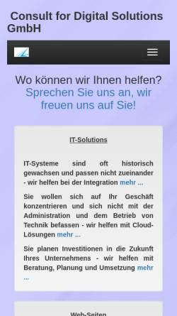 Vorschau der mobilen Webseite www.brokadata.de, Brokadata AG