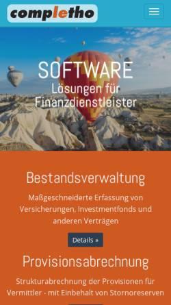 Vorschau der mobilen Webseite www.completho.de, Completho Software GmbH