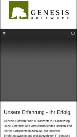Vorschau der mobilen Webseite www.averis.info, Genesis-Software GmbH