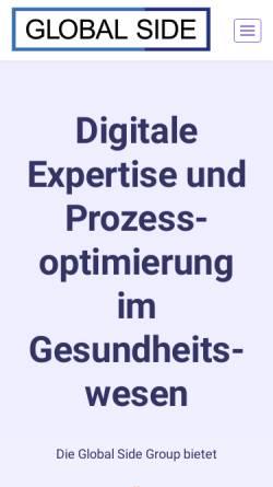 Vorschau der mobilen Webseite www.globalside.com, Global Side GmbH