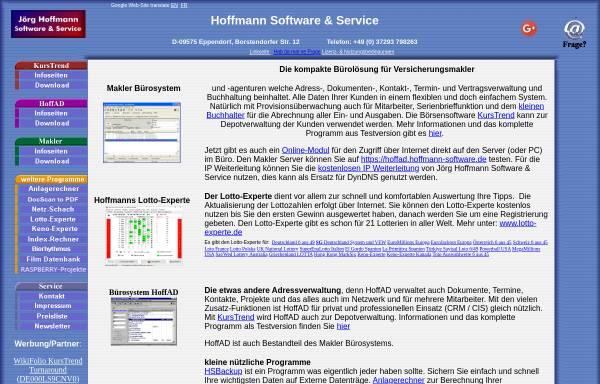 Vorschau von www.hoffmann-software.de, Hoffmann Software & Service, Inh. Dipl.-Ing. Jörg Hoffmann