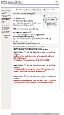 Vorschau der mobilen Webseite www.mwsbraun.de, MWS Braun - Finanzplanungssoftware