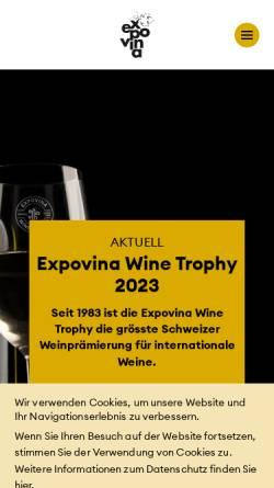 Vorschau der mobilen Webseite www.expovina.ch, Expovina