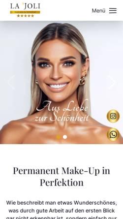 Vorschau der mobilen Webseite www.lajoli.de, Lajoli, Inh. Manuela Dobrick