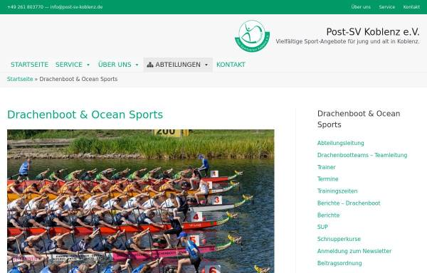 Vorschau von www.schaengel-express.de, Drachenbootteam Schaengel-Express Koblenz