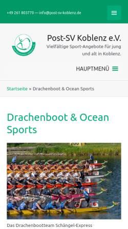 Vorschau der mobilen Webseite www.schaengel-express.de, Drachenbootteam Schaengel-Express Koblenz