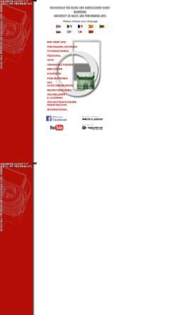Vorschau der mobilen Webseite www.muho-mannheim.de, Staatliche Hochschule für Musik und darstellende Kunst Mannheim
