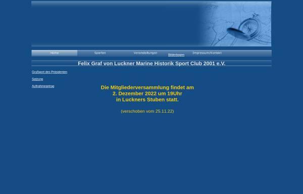 Vorschau von www.graf-luckner-marineclub.de, Wandlitzer Felix Graf von Luckner Marine Historik Sport Club 2001 e.V.