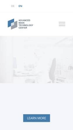 Vorschau der mobilen Webseite www.amtc-dresden.com, AMTC Advanced Mask Technology Center GmbH & Co. KG