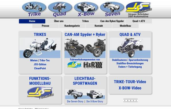 Vorschau von www.quad-port.com, JS-Spezialfahrzeuge GmbH