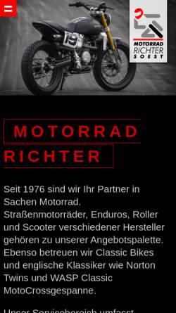 Vorschau der mobilen Webseite www.richter-soest.de, Motorrad Richter
