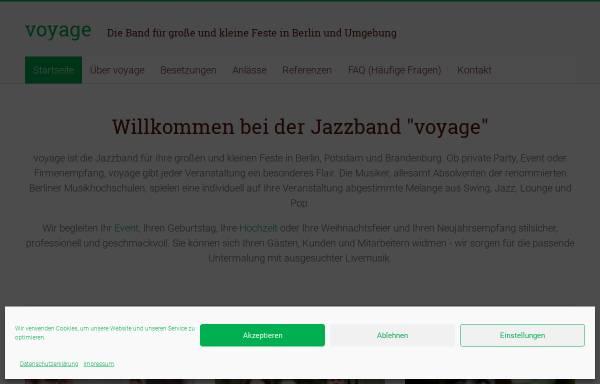 Vorschau von www.jazzband-aus-berlin.de, Voyage