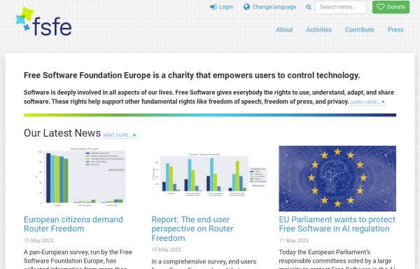 Vorschau von www.fsfe.org, FSF Europe