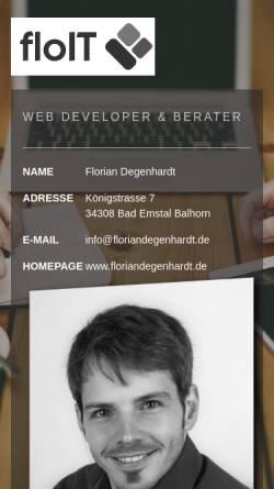 Vorschau der mobilen Webseite www.ihr-webberater.de, Armin Geselle