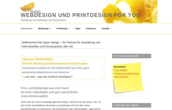 Vorschau von www.sauerdesign-4u.de, Sauer Design