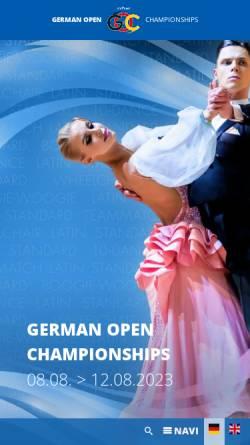 Vorschau der mobilen Webseite www.goc-stuttgart.de, German Open Championships