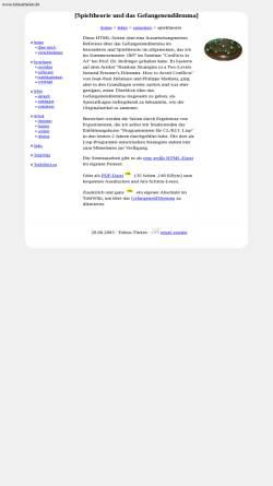 Vorschau der mobilen Webseite tobiasthelen.de, Spieltheorie und das Gefangenendilemma