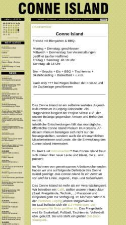 Vorschau der mobilen Webseite www.conne-island.de, Conne Island