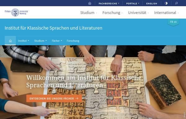 Vorschau von www.uni-marburg.de, Fachbereich Vergleichende Sprachwissenschaft an der Philipps-Universität Marburg