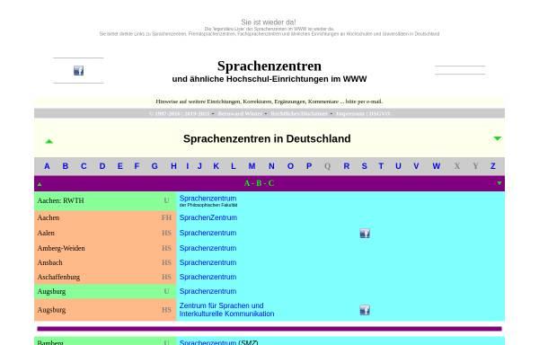 Vorschau von home.arcor.de, Sprachenzentren im WWW