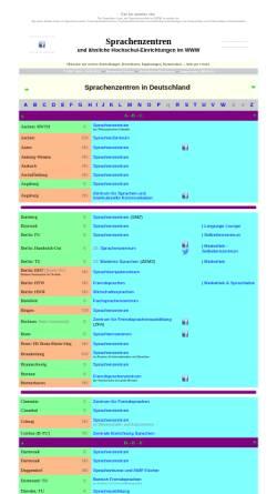 Vorschau der mobilen Webseite home.arcor.de, Sprachenzentren im WWW