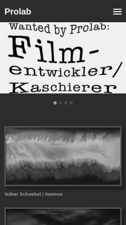 Vorschau der mobilen Webseite www.prolab.de, Fotolabor M GmbH