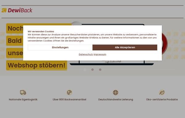 Vorschau von www.dewiback.de, DeWiBack