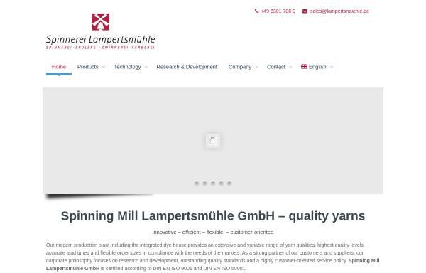 Vorschau von www.lampertsmuehle.de, Spinnerei Lampertsmühle AG