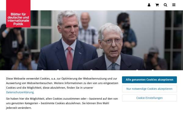 Vorschau von www.blaetter.de, Blätter für deutsche und internationale Politik