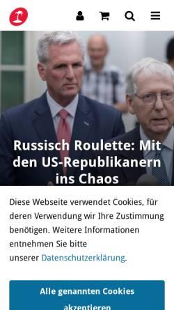 Vorschau der mobilen Webseite www.blaetter.de, Blätter für deutsche und internationale Politik