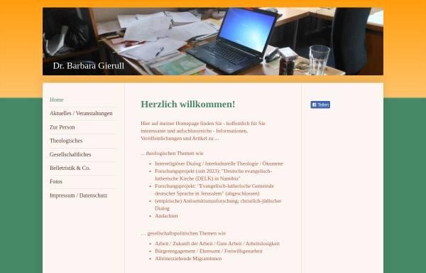 Vorschau von www.barbara-gierull.de, Gierull, Barbara