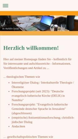 Vorschau der mobilen Webseite www.barbara-gierull.de, Gierull, Barbara