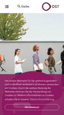 Vorschau der mobilen Webseite gis.hsr.ch, GISpunkt der HSR Hochschule für Technik Rapperswil