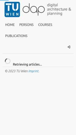 Vorschau der mobilen Webseite www.iemar.tuwien.ac.at, IEMAR - Institut für EDV-Gestützte Methoden in Architektur und Raumplanung