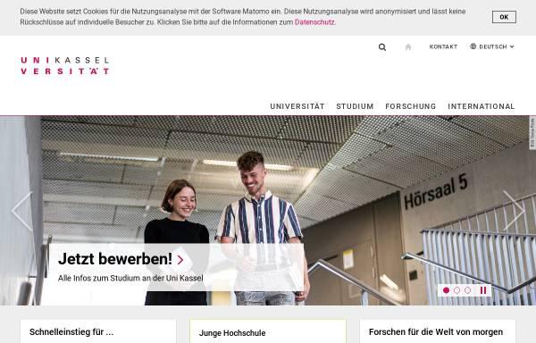 Vorschau von www.uni-kassel.de, Universität Kassel - GeoInformation