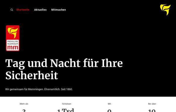 Vorschau von www.feuerwehr-memmingen.de, Freiwillige Feuerwehr Memmingen